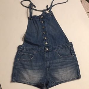 American eagle outfitters jean shirt overalls